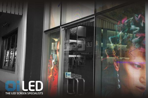 Oi LED Shopfront Transparent LED Tsiknaris