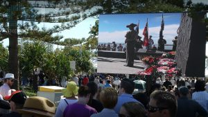 Oi13 Trailer Screen at Anzac Day Redcliffe