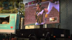 Oi7 Trailer Screen at Brisbane Bandits
