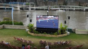 Oi13 Trailer Screen at Commonwealth Games
