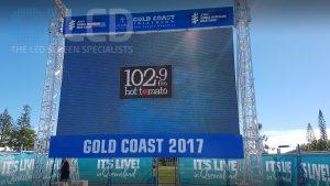 Oi P10 Truss Screen at Gold Coast Tri