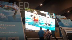 Oi P6 Truss Screen at Hotspring Spas Expo