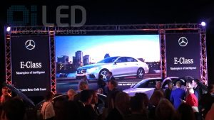Oi P6 Multiple Truss Screens at Mercedes Benz Gold Coast