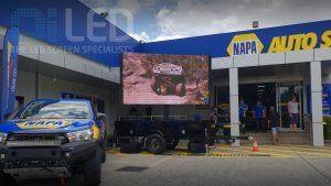 Oi7 Trailer screen at NAPA Auto
