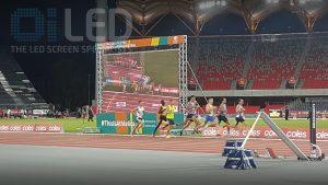 Oi P10 Truss Screen at Athletics Australia