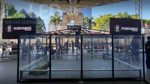 Oi 13 Dual Trailer Screens at Robowars Southbank