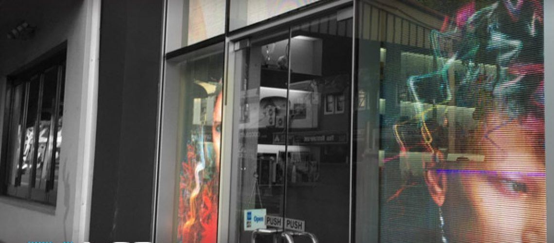 Oi LED Shopfront Transparent LED Tsiknaris