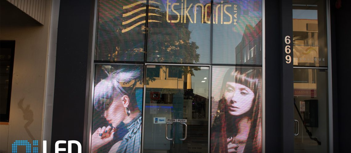 Tsiknaris Transparent LED Screen Install